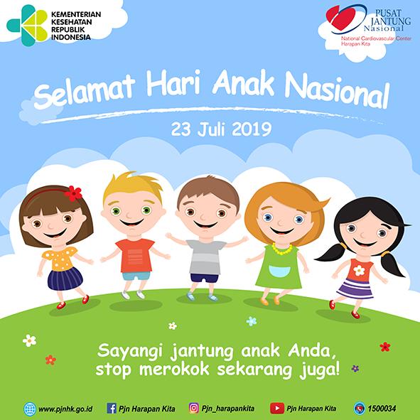 Peringatan Hari Anak Nasional Tahun 2019 di RSJPD Harapan Kita