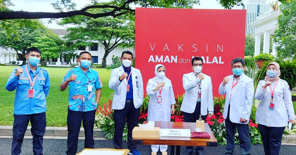 Dukungan RSJPDHK dalam Pelaksanaan Vaksinasi Di Istana Negara